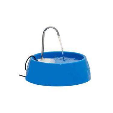Fonte Bebedouro Elétrico Para Cães E Gatos Amicus Aqua Mini Bivolt Azul