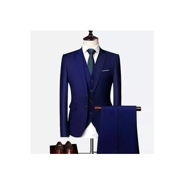 Terno Oxford Masculino Slim Azul Marinho