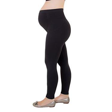 Calça Loba Legging Gestante Fio 150 (Adulto) Tamanho: Gg | Cor: Preto