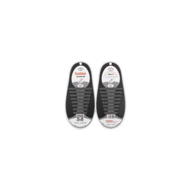Sapatos casuais cordões sem silicone 16pcs (cinza)