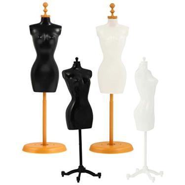 Imagem de EXCEART 4 Peças de Roupa de Boneca Forma de Vestido de Boneca Suporte de Exibição de Boneca Figura de Ação Suporte Manequim Modelo Suporte Acessórios para Boneca Vestidos de Boneca
