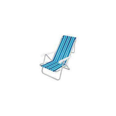Cadeira de Praia Alumínio 8 Posições - Mor