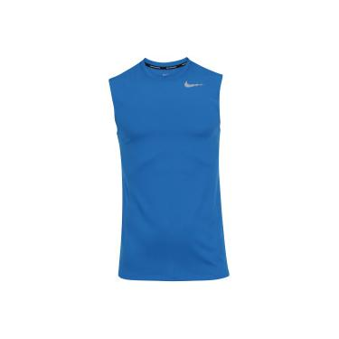Camiseta Regata Nike Breathe Run SL - Masculina - AZUL Nike 8d340811d58