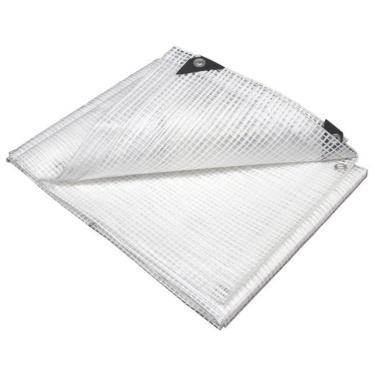 Lona Plástica Transparente Impermeável Proteção Toldo 3x5