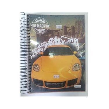 Caderno 20 Matérias Hot Machine Carro Amarelo Cadersil