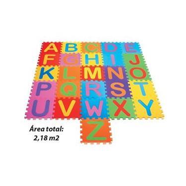 Imagem de Tapete em EVA Alfabeto 8mm 26 Peças antialérgico, atóxico, lavável, texturizado Mingone 095