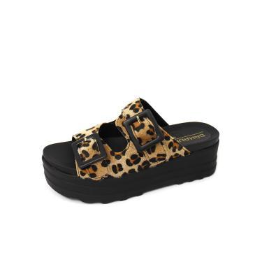 Imagem de Sandália Birken Tratorada Fivela Damannu Shoes Shannon Onça  feminino