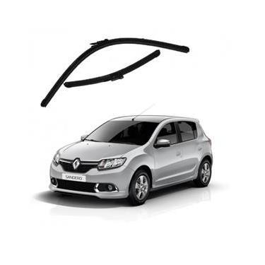 Kit Palhetas Limpador de Parabrisa Dianteiro Renault Sandero Ano 2015 - Atual