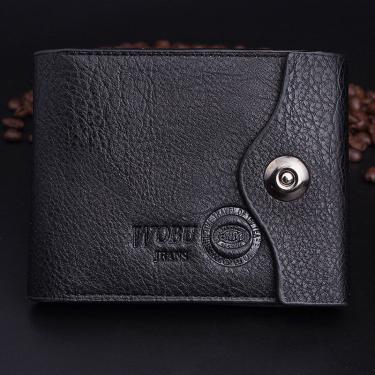 Carteira Masculina Couro Wobu Jeans C/ Porta-moedas - Preto