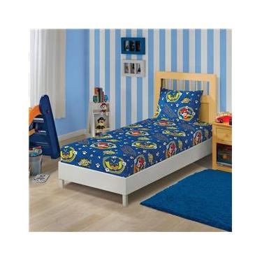4f608981b7 Jogo de Cama Solteiro Patrulha Canina Menino 2 peças Azul - Lepper
