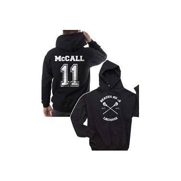 Mccall 11 Moletom Casaco Blusa Oferta Serie Teen Wolf - Vinho - GG