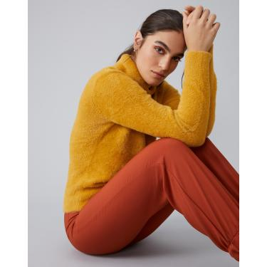 suéter slim felpudo Feminino AMARO MOSTARDA GG