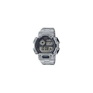 e06872e2c9c Relógio Masculino Casio Digital AE-1400WHD-1AV - Prata