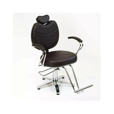 Poltrona Cadeira Hidraulica Topazio Fixa Moveis Para Salão - Cabeleireiro