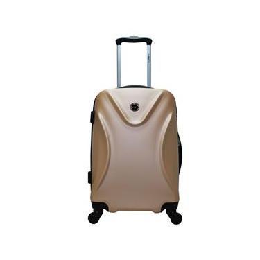 Mala de Viagem Pequena ABS c/Carrinho Champagne Ys21016Ch-P