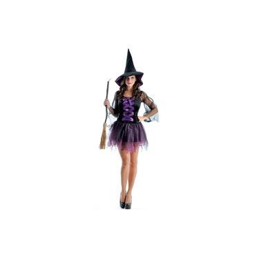 Imagem de Fantasia Bruxa Sensual Adulto Halloween Com Chapéu