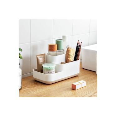 Suporte de cosméticos funcional Grades de mesa Cosméticos Recipiente de maquiagem Cozinha Banheiro Organizador Caixa de armazenamento de jóias de escritório