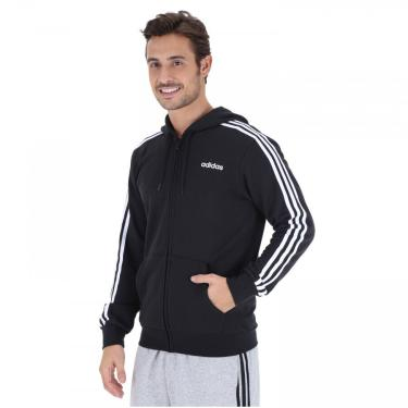 Jaqueta de Moletom com Capuz adidas 3S FZ French Terry - Masculina adidas Masculino