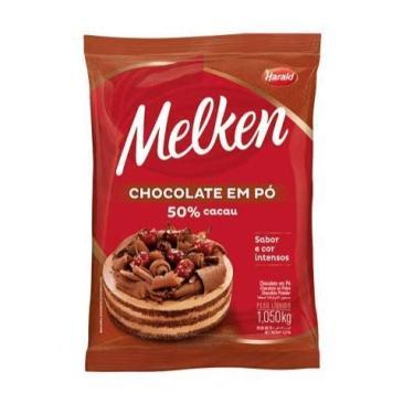 Chocolate em Pó 50% Cacau Melken 1,050Kg
