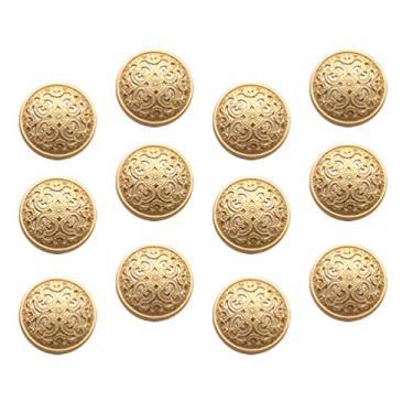 BESPORTBLE 30Pcs 20Mm Jaqueta de Botões De Metal Moda Rodada Botões Do Casaco Botões Planas Botões de Costura Artesanato DIY Acessório Dourado 1. 8Cm