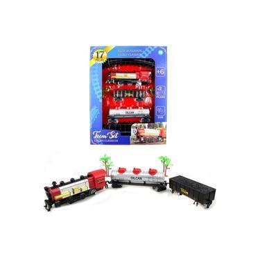 Imagem de Brinquedo Infantil Ferrorama Trenzinho De Montar A Pilha Com Vagao