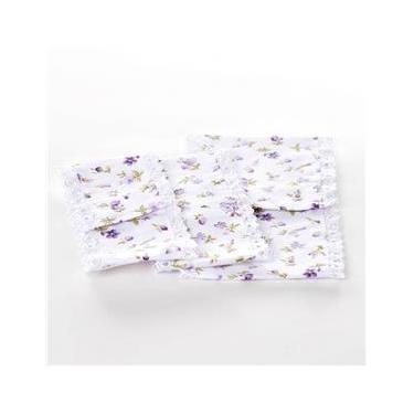 Jogo De Capas De Tecido Lilás Para Kit Higiene Bebê Menina (Conj. 3 Peças)