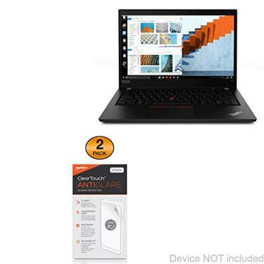 Película protetora de tela para Lenovo ThinkPad T490 (14 polegadas), BoxWave [ClearTouch antirreflexo (pacote com 2)] Película fosca anti-impressão digital para Lenovo ThinkPad T490 (14 polegadas)