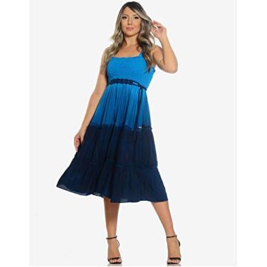 Vestido Gabriele Turquesa Use Fashionista (G)