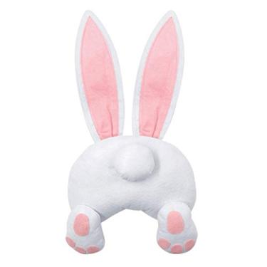 Imagem de Mobestech Coelhinho de pelúcia brinquedo de coelhinho da páscoa, boneca de pelúcia animal de pelúcia ornamentos de jardim de fada para decoração de micro paisagem Páscoa
