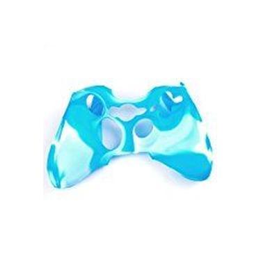 Factop xbox360 controlador Azul Branco Camo de silicone pele caso