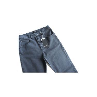 Calça Jeans Masculina Pierre Cardin Tradicional com Stretch Cinza