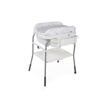 Banheira Com Trocador Chicco Cuddle & Bubble Confort - Grey