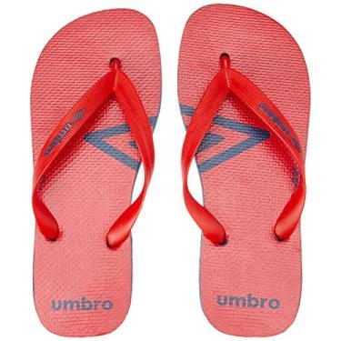 Imagem de Chinelo Umb0102, Umbro, Adulto Unissex, Vermelho/Marinho, 39