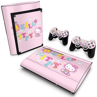 Skin Adesivo para PS3 Super Slim - Hello Kitty