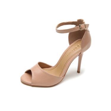 7d50d07982 Sandália DAFITI SHOES Salto Fino Tornozeleira Bege Dafiti Shoes 288-2706  feminino