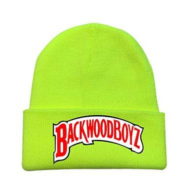 2020 Unissex Backwoods Chapéus de Malha Punho Sólido Gorro Gorro Quente Inverno para Homens e Mulheres Chapéu Moderno Backwoods, Amarelo, tamanho �nico