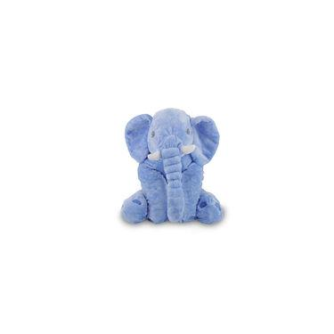 Imagem de Elefante De Pelúcia 60 Cm - Almofada Azul