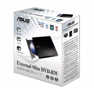 Gravador Externo De Dvd Sdrw-08d2s-U Lite Slim Sata Asus