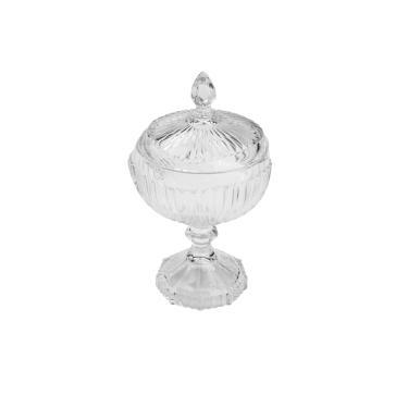 Bomboniere em cristal com pé Lyor Elisabeth 10,5cm incolor