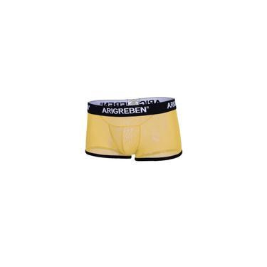 Imagem de Cuecas De Malha Masculina Cuecas Elásticas Cueca Respirável Amarelo Xl