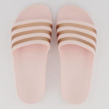 Chinelo Adidas Adilette Aqua Feminino Rosa e Dourado - 38-39