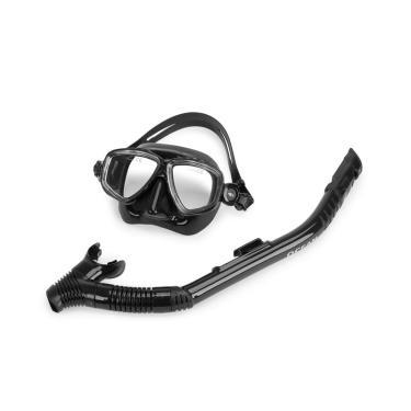 Kit De Máscara E Snorkel Ocean Mormaii / Black