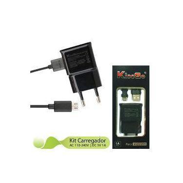 Kit Carregador 2x1 V8 Kingo Compatível Para Lg Prime Plus - Up Case