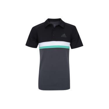 Camisa Polo com Proteção Solar UV adidas Club Colorblock TD - Masculina -  CINZA ESCURO  11a583ba6f424