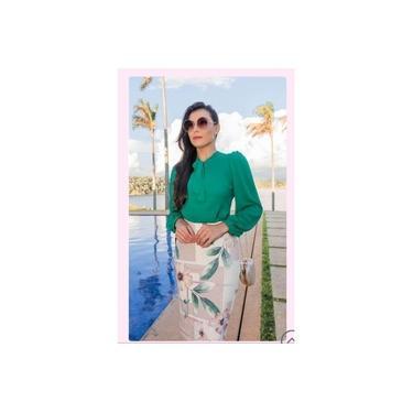 Camisa Feminina Social Verde