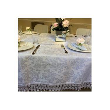 Imagem de Toalha de Mesa Rendada Quadrada 0.85 x 0.85m Classic Branca Casa Argivai
