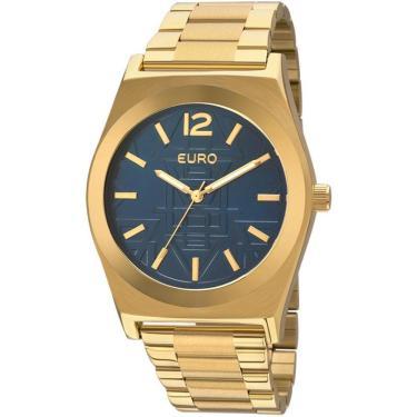 47df011dee2 Relógio Feminino Euro Analógico Dourado - Eu2036jg 4a