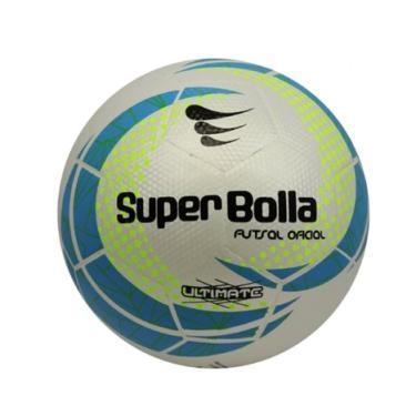 4a691fcb35 Bola Ultimate Top Fusion Sub 13 Futsal Super Bolla - Branca com Azul e  Amarelo