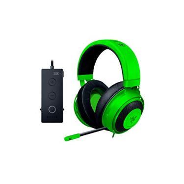 Headset Gamer Kraken Tournament, Razer, Microfones e Fones de Ouvido, Verde