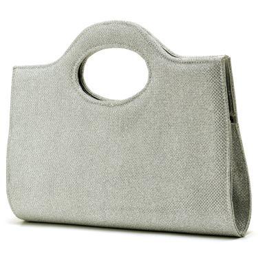 Bolsa de Mão de Festa  Hendy Bag Glitter Prata  feminino